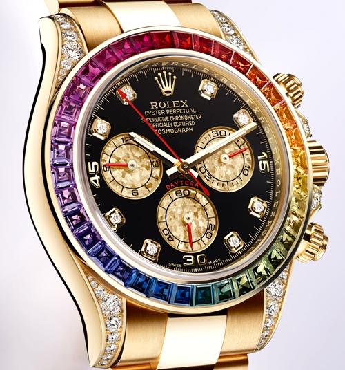 Rolex-cosmograph-daytona-fake-colourful-jewel-bezels