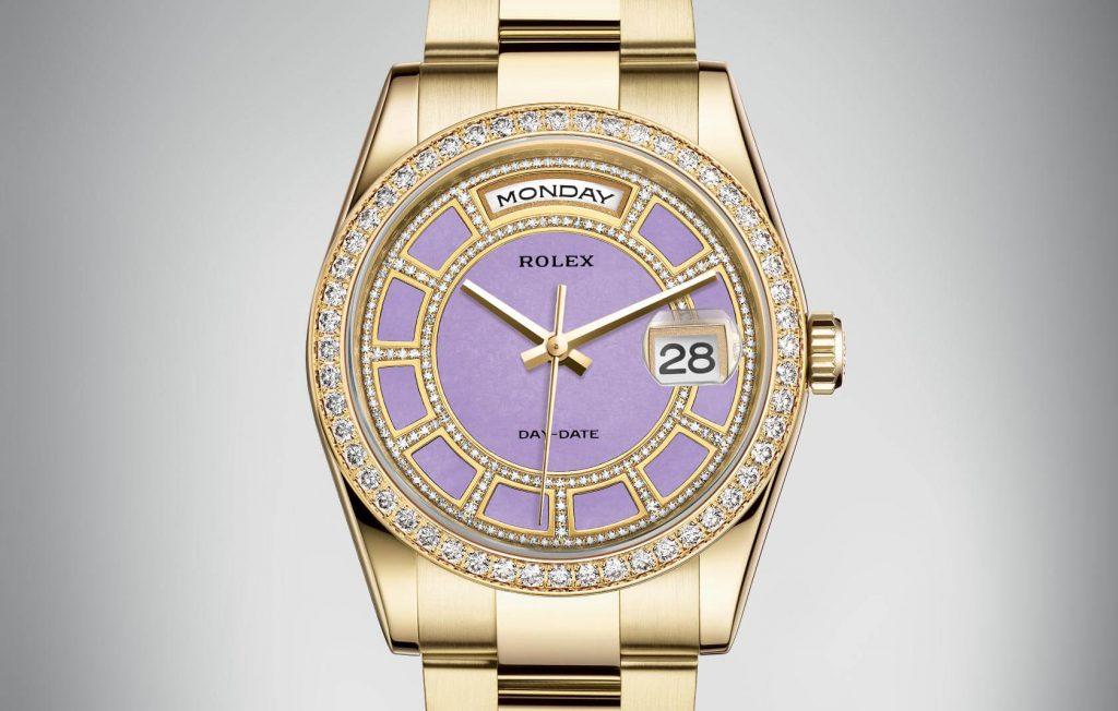 Rolex-day-date-fake-lavender-jade-dials