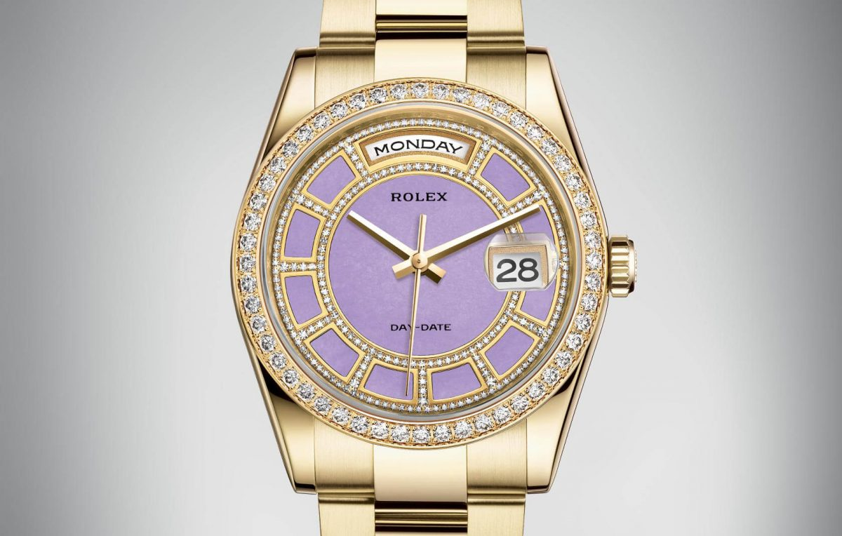 Rolex Day-Date Replica Watches UK With Lavender-Jade Dials