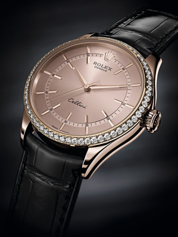 Rolex Cellini Time Replica Watches UK With 18CT Rose-Gold Cases