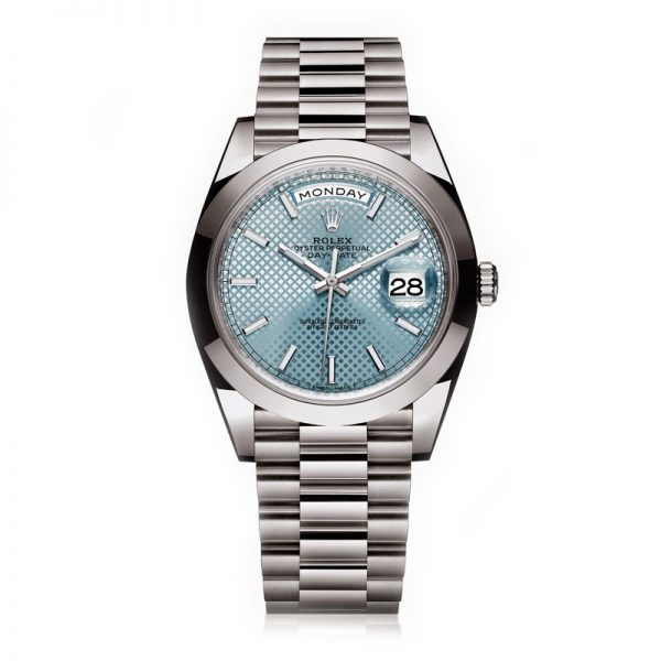 Rolex Day-Date Fake Swiss Watches UK With Ice Blue Dials On Sale