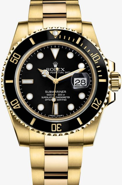 Rolex Submariner Copy Watches UK With Black Dials And Bezels