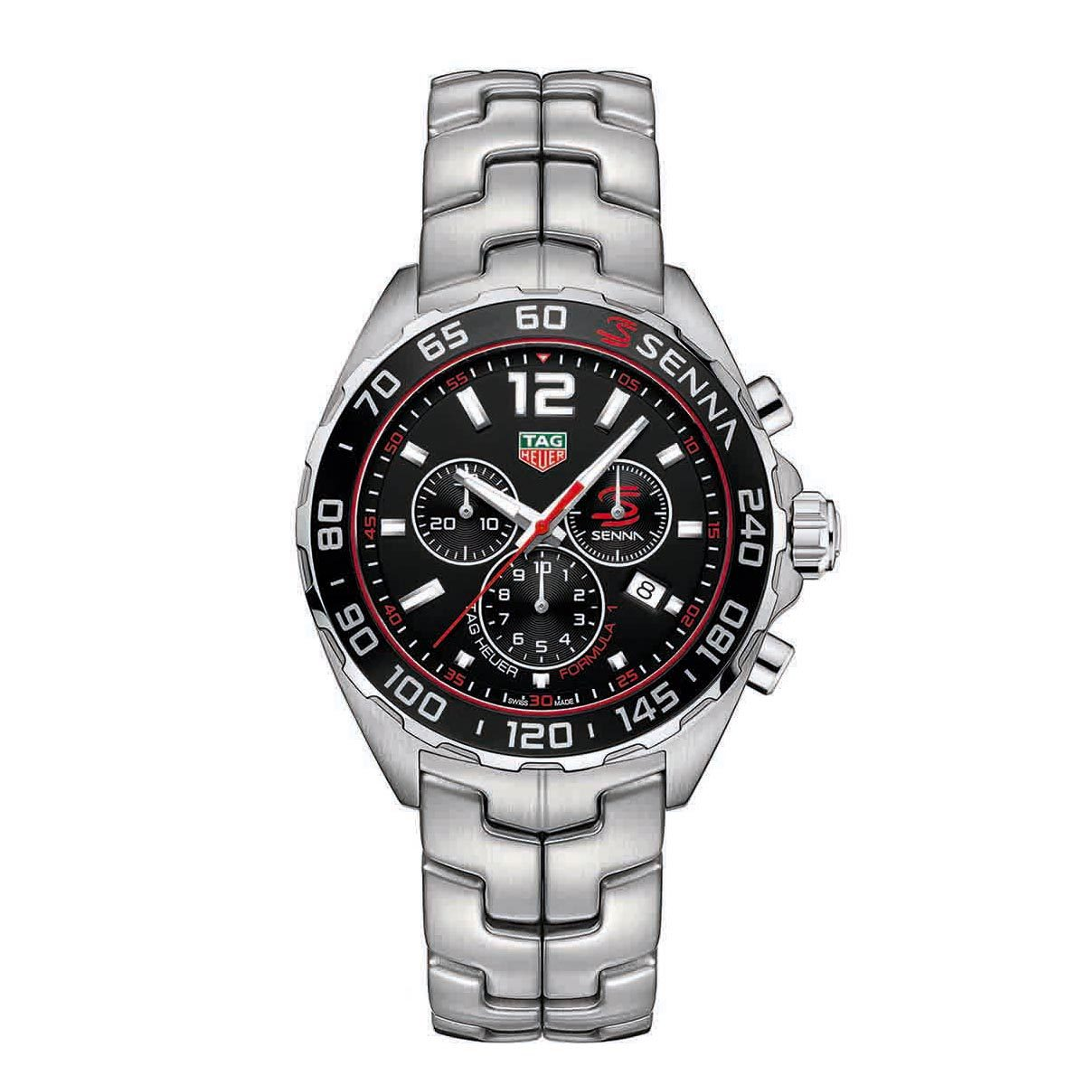 TAG Heuer Formula One Copy Watches UK With Black Dials Represented By Ayrton Senna