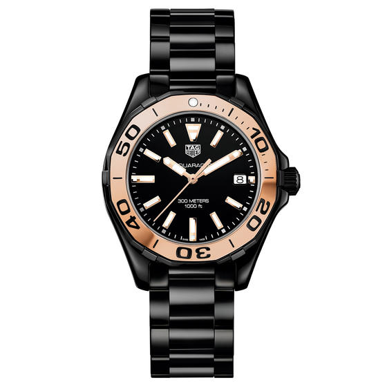 Black Ceramic TAG Heuer Aquaracer Copy Ladies' Watches UK For Sale