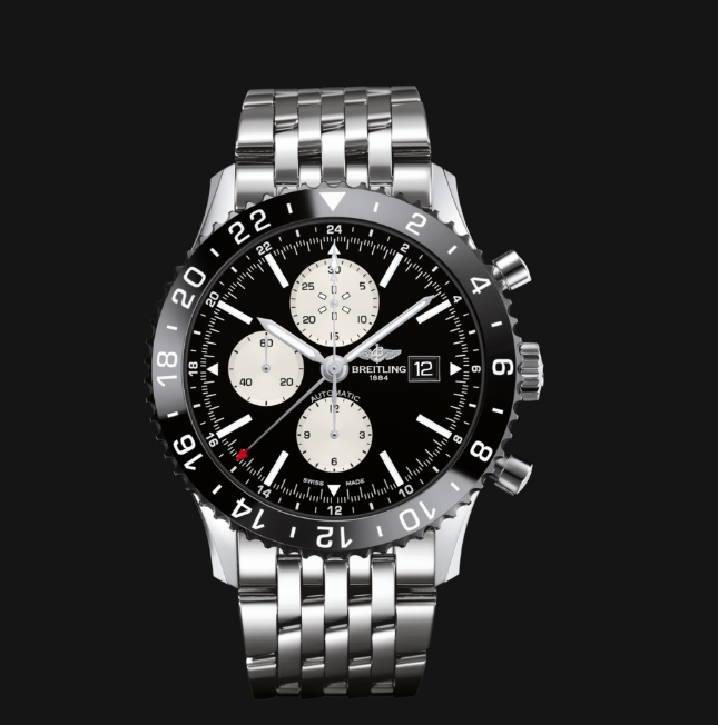 46MM Breitling Chronoliner Replica Cheap Watches With Black Bezels Of Good Quality