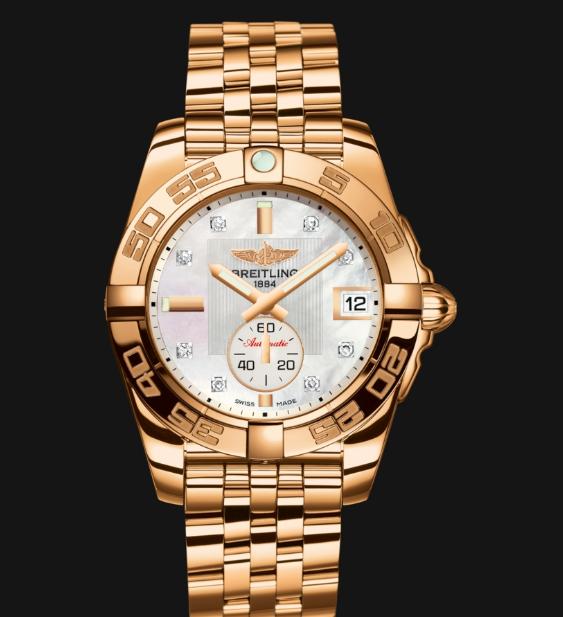 Breitling-Galactic-Rose-Gold-Replica