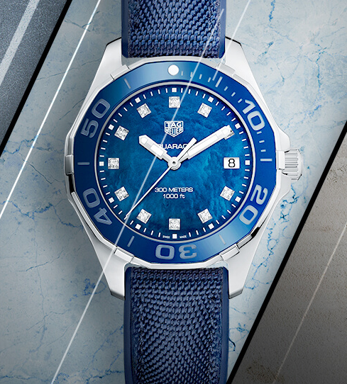 New TAG Heuer Aquaracer Replica Ladies' Watches UK With Blue Dials Shown In 2017 SIHH