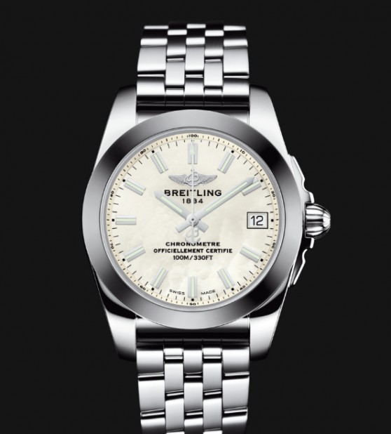 Two Breitling Fake Popular Ladies' Watches UK Of Small Sizes For Comparison