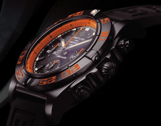 The Tough Style ——- UK 44MM Breitling Chronomat Fake Watches With Orange Elements