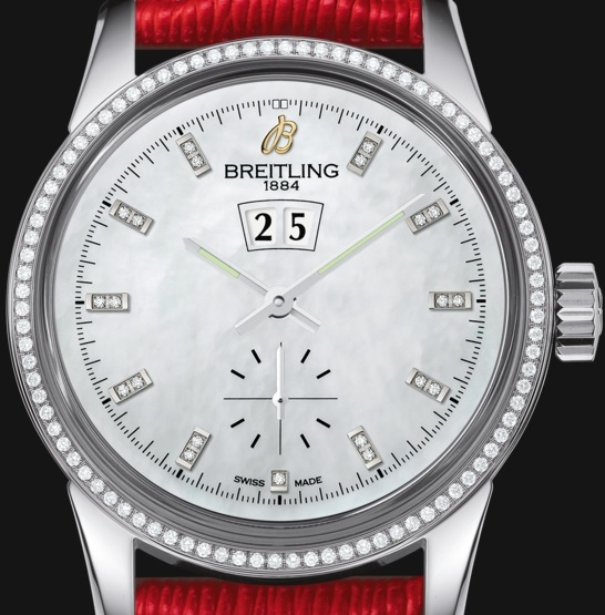 Stylish Red Leather Straps UK Fake Breitling Watches Bring Fortune To Ladies