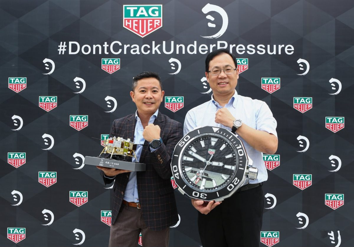 Official Timepieces Of UK China Lunar Exploration Project-Black Rubber Straps TAG Heuer Carrera Fake Watches