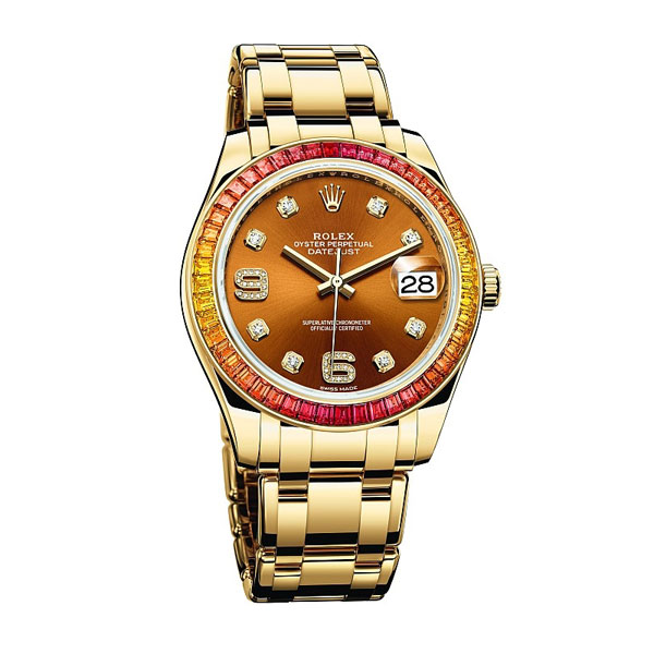 Rainbow Bezel Rolex Oyster Perpetual Datejust Pearlmaster 39 UK Replica Watches Review