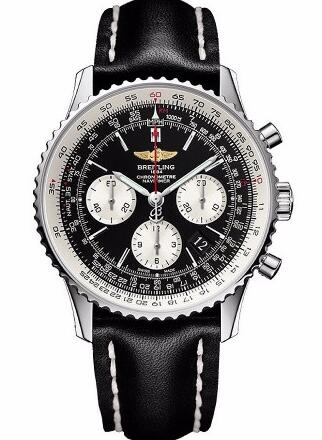 With bright red second hand, that highlights the whole design of this fake Breitling watch.