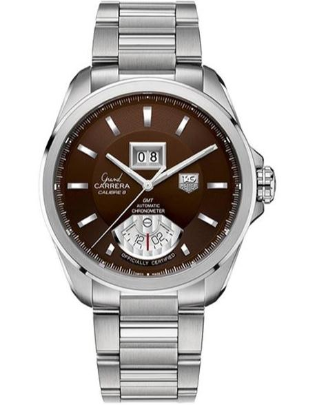 With deep brown dial presenting onthe steel case, this fake TAG Heuer watch also shows a wonderful visual effect.