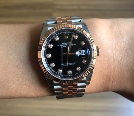 Rolex Datejust Replica watch UK With Everose Gold And Oystersteel Case For Women