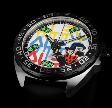 The pattern of the dial has presented the style of Alec Monopoly.