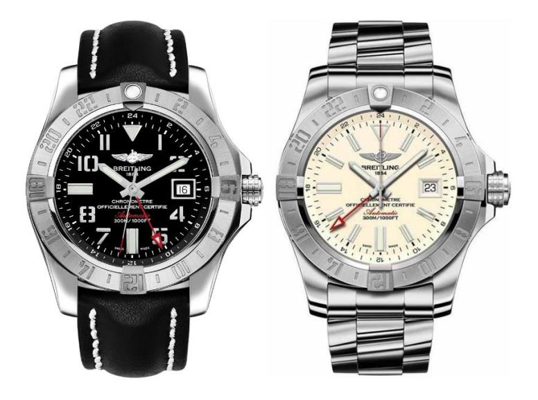 Two Practical Watches Fake Breitling Avenger II A3239011 UK With Dual Time Zone