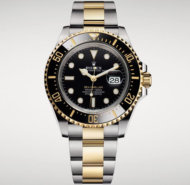 The male fake watches are made from 18ct gold and Oystersteel.